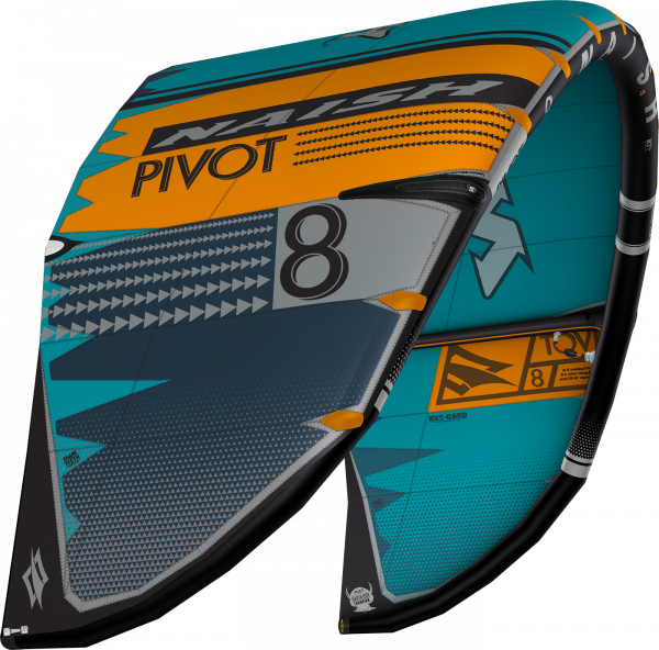 Naish Pivot Teal Orange Grau