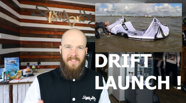 kitesurfen-Drift-launch
