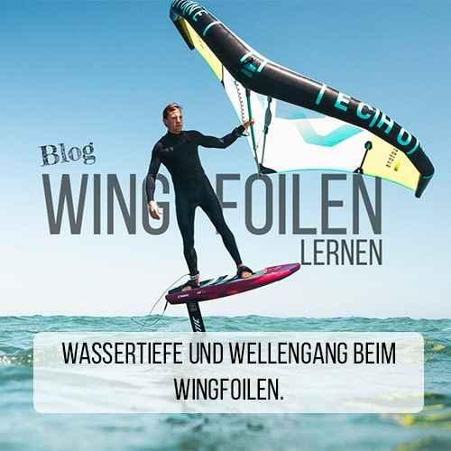 Wingfoilen-Wassertiefe