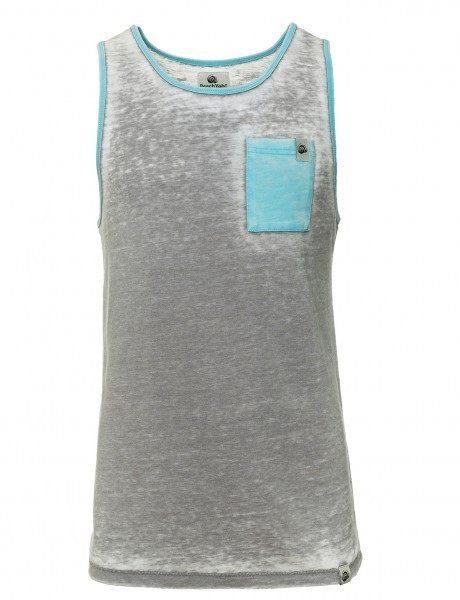 BEACHYAH SHIRT OUTBOURNER TANK GREY CYAN