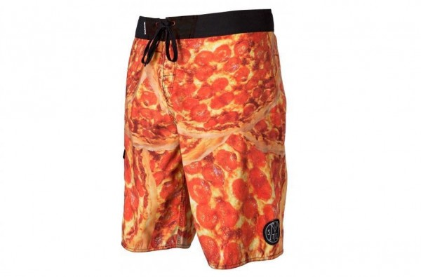 PIZZA BOARDSHORTS LECKER LECKER