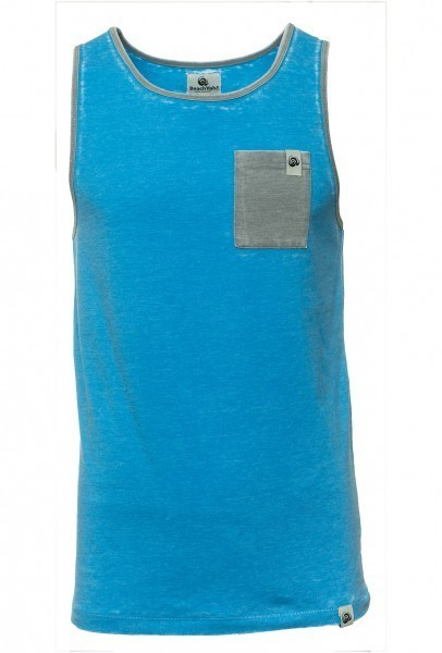 BEACHYAH SHIRT OUTBOURNER TANK BLAU GRAU MEN