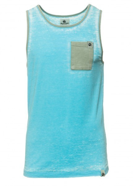 BEACHYAH SHIRT OUTBOURNER TANK CYAN ARMY