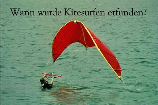 Wann wurde Kitesurfen erfunden?